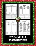 Christmas Language Arts morning work (nouns, verb tense, &