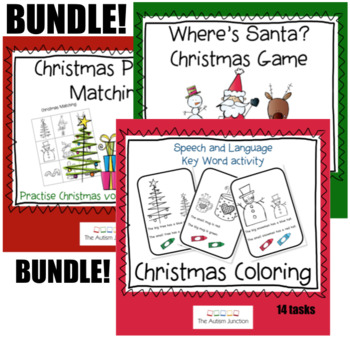 Christmas Activities Language BUNDLE