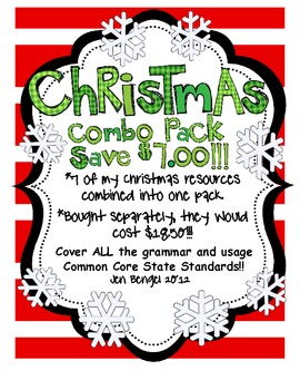 Christmas Language Combo Pack: Save $7.00 on 7 Resources in One!! {96 Pages}