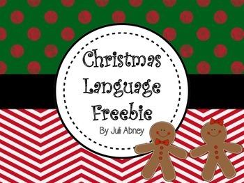 Christmas Language Freebie