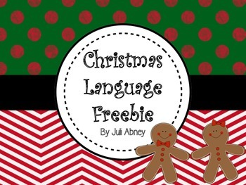 Christmas Language Freebie