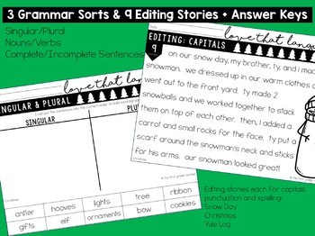 Christmas Language & Grammar Worksheets