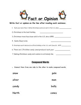 Christmas Language/ Grammar/ Writing