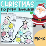 Christmas No Prep Language Activities for Speech Therapy