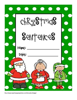 Christmas Language Printable for Teaching Simple, Compound, & Complex Sentences