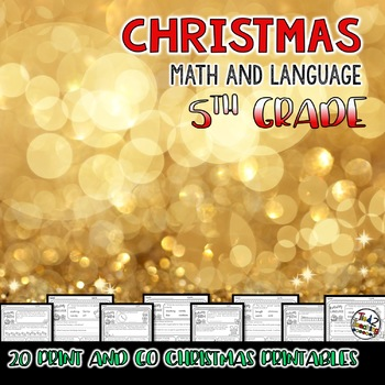 Christmas Language Printables - Fifth Grade