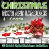 Christmas Language and Math Printables Fourth Grade