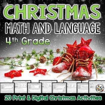 Christmas Language Printables - Fourth Grade