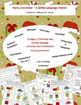 Christmas ~ Language Super Packet!
