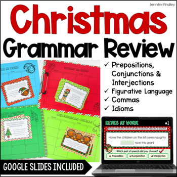Christmas Language Task Cards {4th and 5th Grade}