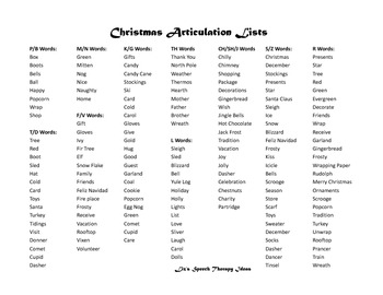 Christmas Language and Articulation Activities for mixed groups and RTI