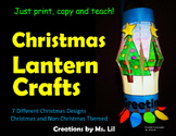 Christmas Lantern Crafts  ::  Christmas Activity  ::  Fine
