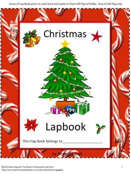 Christmas Lapbook Math & Literacy Interactive Notebook Cra
