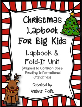 Christmas Lapbook Unit For Big Kids {Common Core}