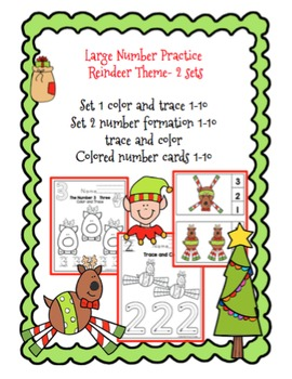 Christmas Large Number Practice