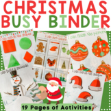 Christmas Learning Binder for Toddler & Preschool - Quiet