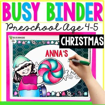 Christmas Printable Learning Busy Book Preschool Age 4-5 - CUSTOM