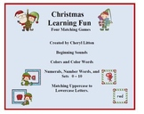 Christmas Learning Fun - Four PreK and Kindergarten Games