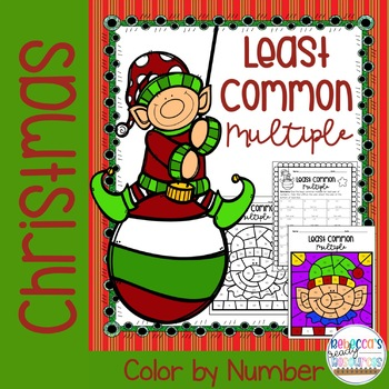 Christmas Least Common Multiple (LCM) Color by Number