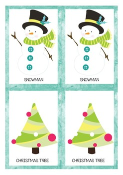 Christmas Matching Game {pre-k, k}