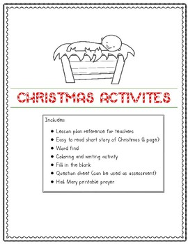 Christmas Lesson Plan The Birth of Jesus