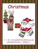 Christmas Lesson Plan - Week 1