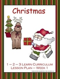 Christmas Lesson Plan - Week 1 (Using MN ECIP's)