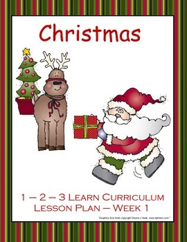 Christmas Lesson Plan - Week 1 (Using MN ECIP's)