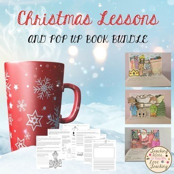 Christmas Lessons and Pop Up Book Bundle