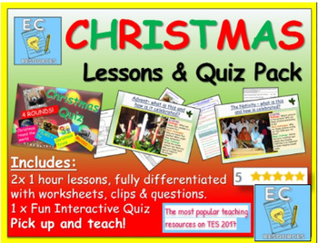 Christmas Lessons and Quiz Pack