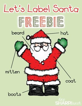 Christmas - Let's Label Santa (FREEBIE)