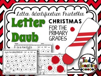Christmas Letter Identification Printables