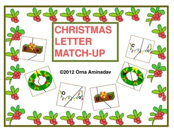 Christmas Letter Match-Up