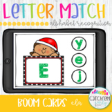 Christmas Letter Match with Boom Cards Distance Learning