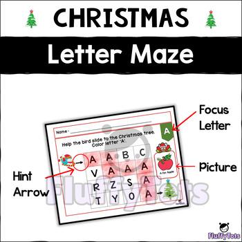 Christmas Letter Activity - Uppercase Letter Maze : Step 2