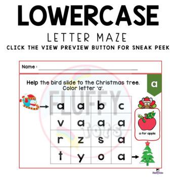 Christmas Letter Activity - Uppercase Lowercase Letter Maze : Step 3