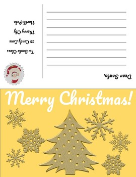 Christmas Postcards - Fold and glue to make authentic looking postcards!