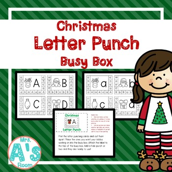 Christmas Letter Punch Busy Box