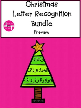 Christmas Letter Recognition Game Bundle