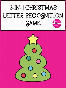 Christmas Letter Recognition 3 Games in 1