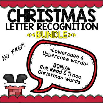 Christmas Letter Recognition BUNDLE