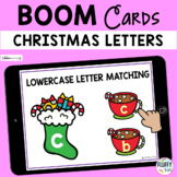 Christmas Letter Recognition Boom Cards - Lowercase Letter