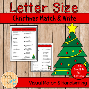Christmas Letter Size Match & Write