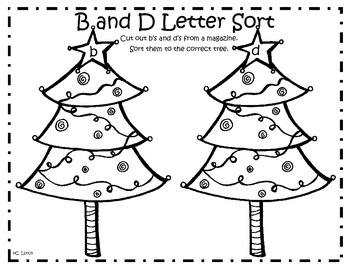 Christmas Letter Sort: b and d