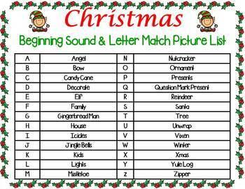 Christmas Letter & Sound Match
