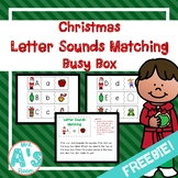 Christmas Letter Sounds Matching Busy Box **FREEBIE**