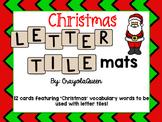 Christmas Letter Tile Mats