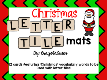 Letter matching tile mats teaching resources teachers pay teachers christmas letter tile mats christmas letter tile mats spiritdancerdesigns Image collections