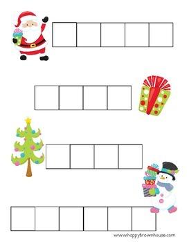 Christmas Letter Tiles Spelling Mat