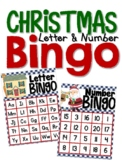 Christmas Letter and Number Bingo